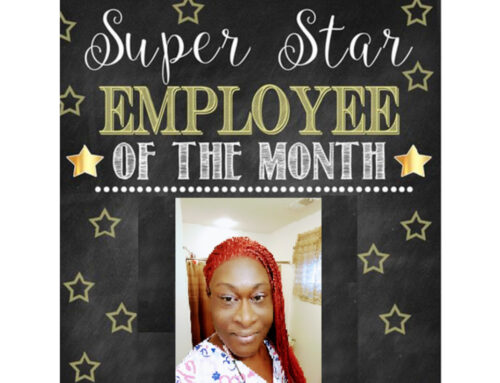 Employee of the month February is Dominique Brown