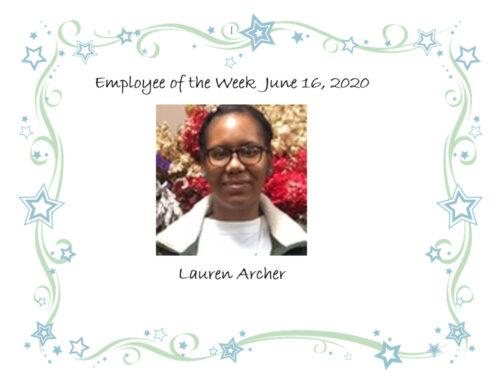 This weeks 52 Finest is Lauren Archer!