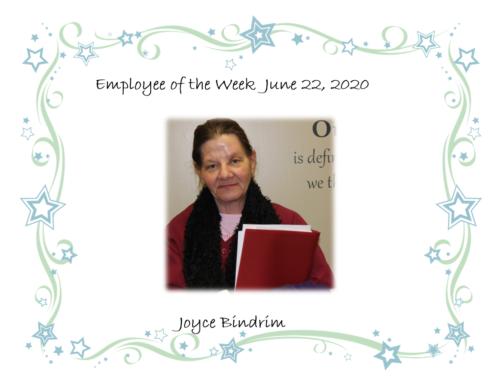 This weeks 52 finest is Joyce Bindrim!